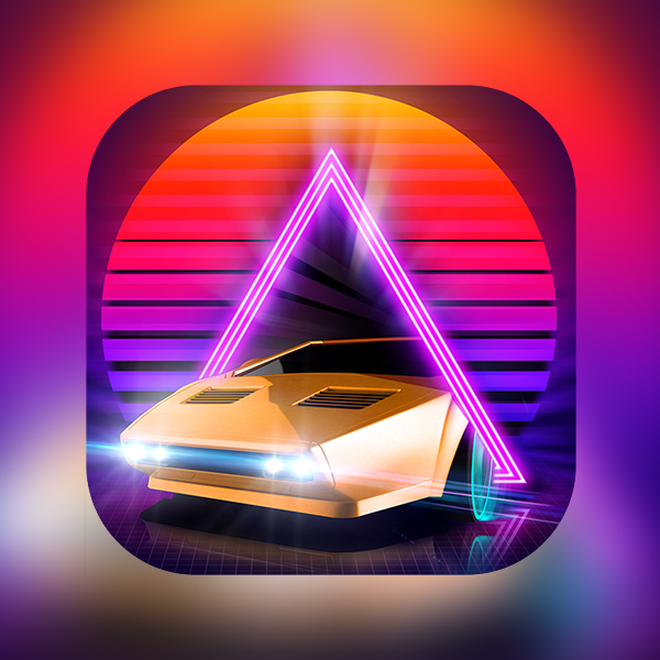 Neon Drive iOS game
